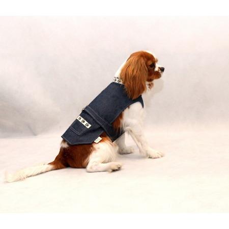 Kamizelka jeans psie łapki