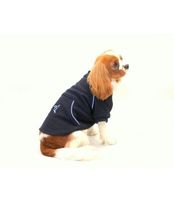 Warm dark blue fleece with...