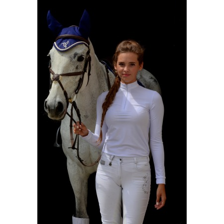 COMPETITION SHIRT BASIC WITH LONG SLEEVES IN WHITE