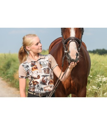 "Koszulka polo ""horses"""