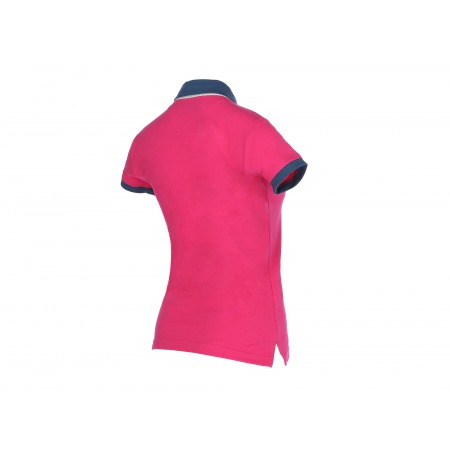 Koszulka polo róż/ jeans