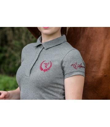 Polo shirt Gray&Claret