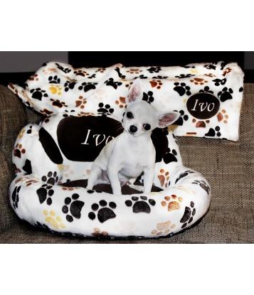 Pet blanket 'Paws' 75cm x 75cm