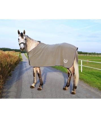 Fleece horse rug Basic in Gray