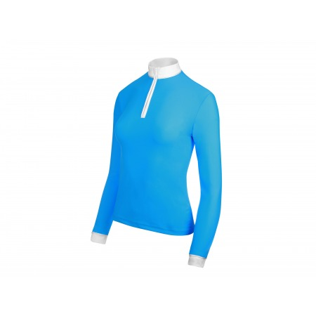 COMPETITION SHIRT BASIC WITH LONG SLEEVES IN BLUE