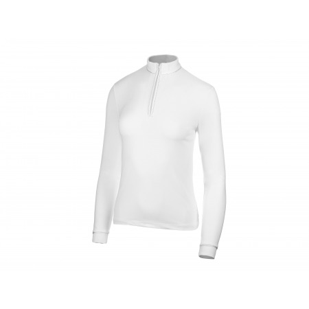 Koszula konkursowa basic z długim rękawem White