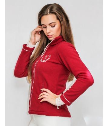 Fleece sweatshirt with zip...