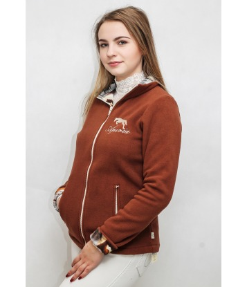 Fleece sweatshirt with horses