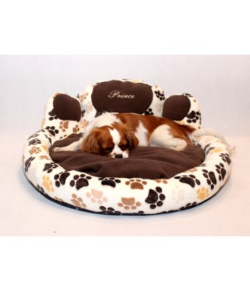 Dog's bed – Paw shape ecru,...