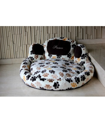 Dog's bed – Paw shape ecru, large
