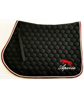 Saddle pad Cherry&Gold