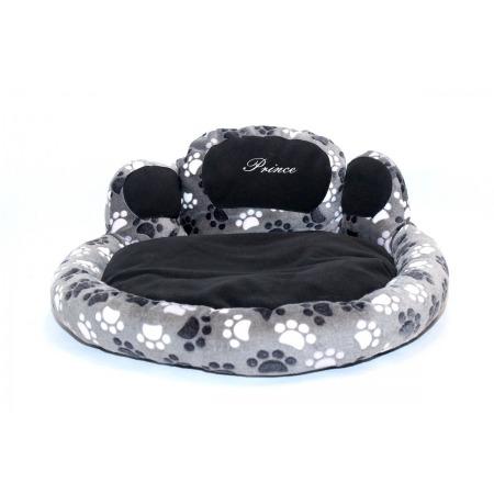 Dog's bed – Paw shape grey, large