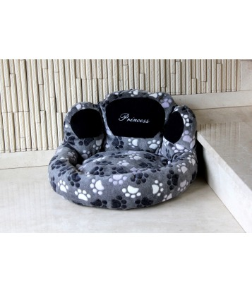 Dog's bed – Paw shape grey,...