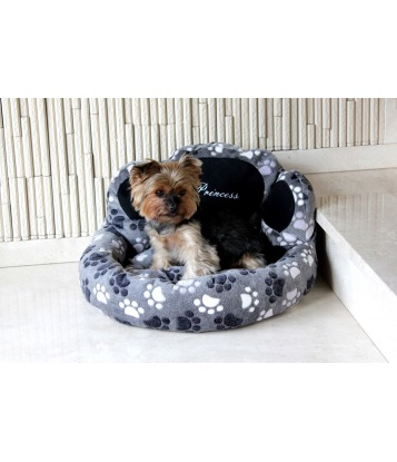 Dog's bed – Paw shape grey, small