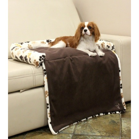 Dog's bed with a flap large ecru
