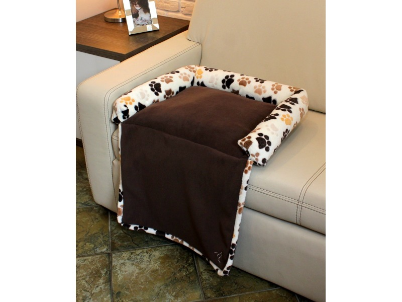 Dog's bed with a flap small ecru