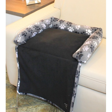 Dog's bed with a flap small grey
